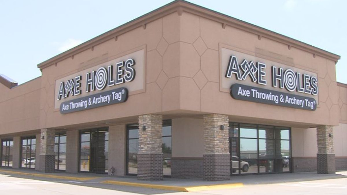 Axe Holes located on 2300 Webb Rd. in Grand Island is now open.  (Credit: Diamond Nunnally)