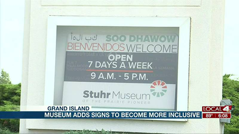 The Stuhr Museum added new signs out front Tuesday to greet folks as they enter and thank them...