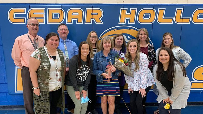 Ronda Kruger was surprised by her peers, family and the school's administration after receiving...