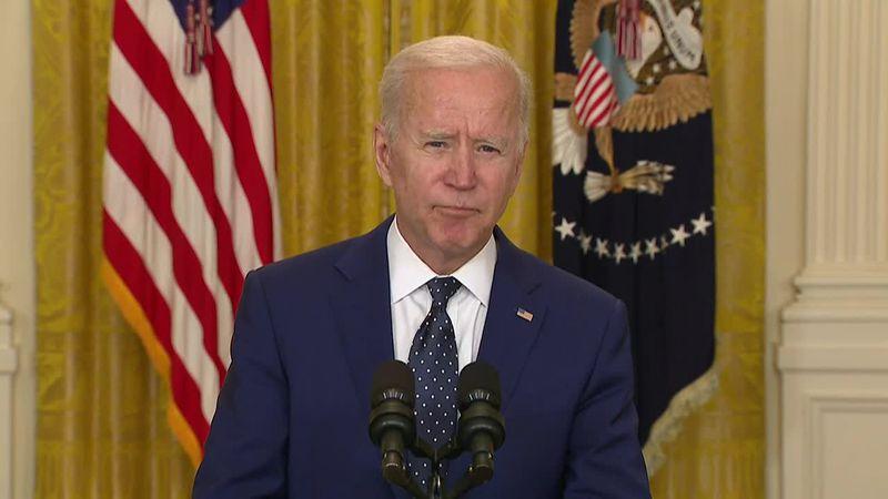 President Joe Biden delivers remarks on Russia.