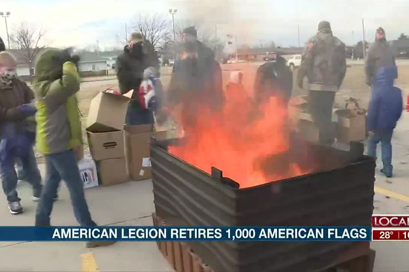 Hastings American Legion retires over 1,000 American flags