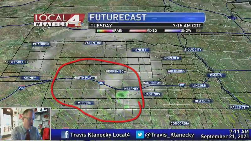 Finding the few little bits of active weather in a very quiet forecast.