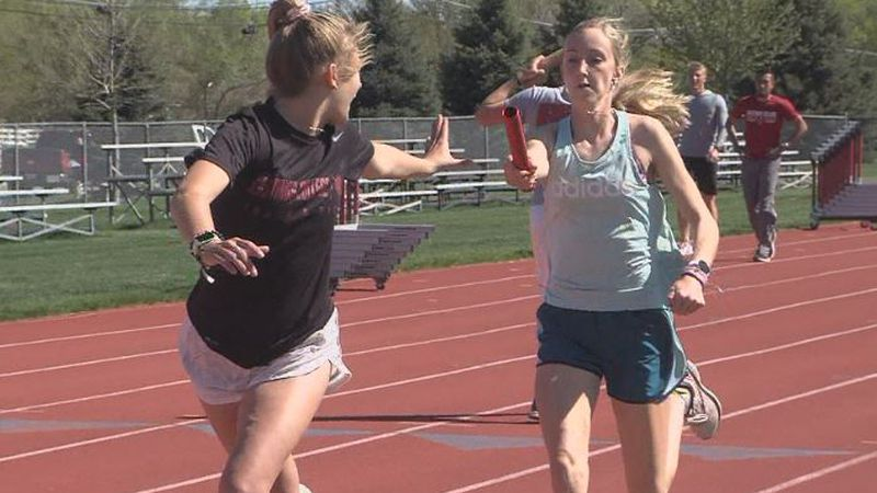 Hastings College women's track & field team practice ahead of GPAC Championships