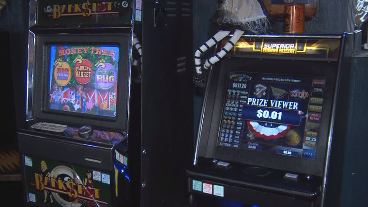 Gambling machines like this have been popping up around Nebraska, but are marketed in a way that's not illegal yet. (Credit: Alicia Naspretto)