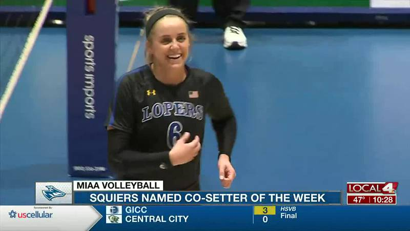 Madison Squiers named MIAA Co-Setter of the Week.