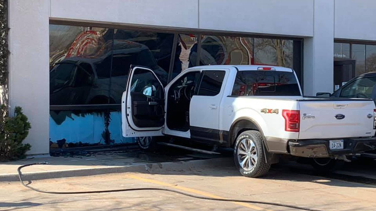 First responders are on scene after a pickup smashed into the cardiac rehab building at Mary...