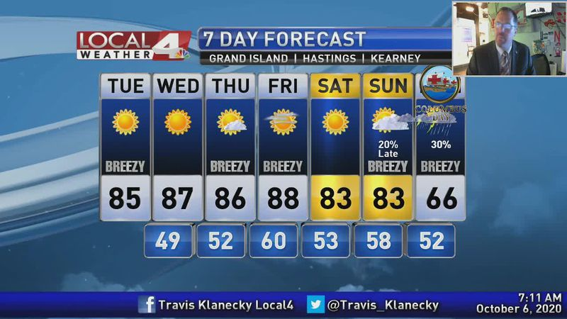Warm weather will continue with signs of some rain and cooler weather down the road.