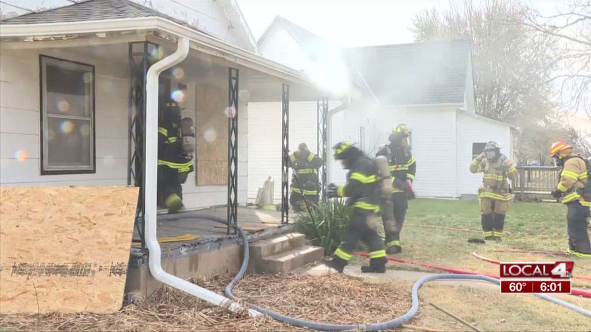 Hastings firefighters practiced a live burn Wednesday in a house on the south part of town. (Source: Kelsey Dickeson, KSNB)
