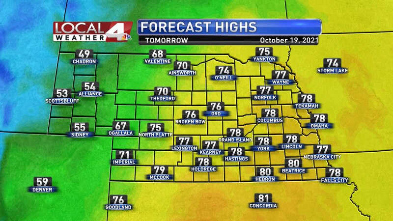 Warm and breezy weather is expected again for most on Tuesday.
