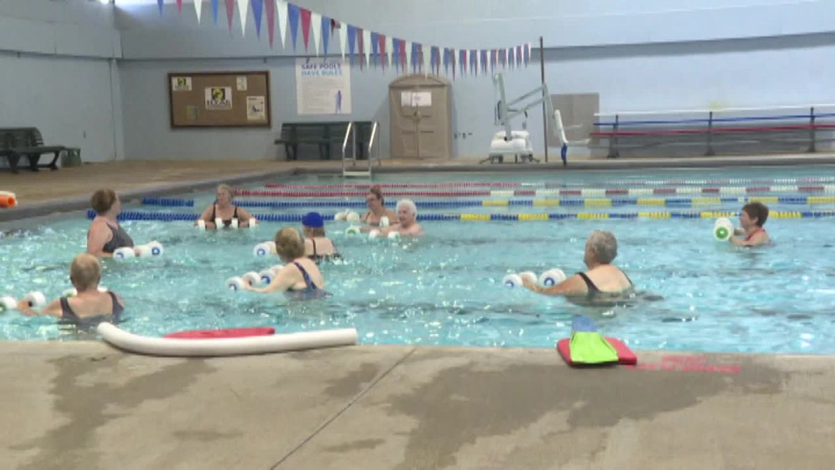 "More group classes are back at the Hastings YMCA, including ""Aquacise,"" as the facility operates under Phase 3 of reopening. (Source: Kelsey Dickeson, KSNB)"