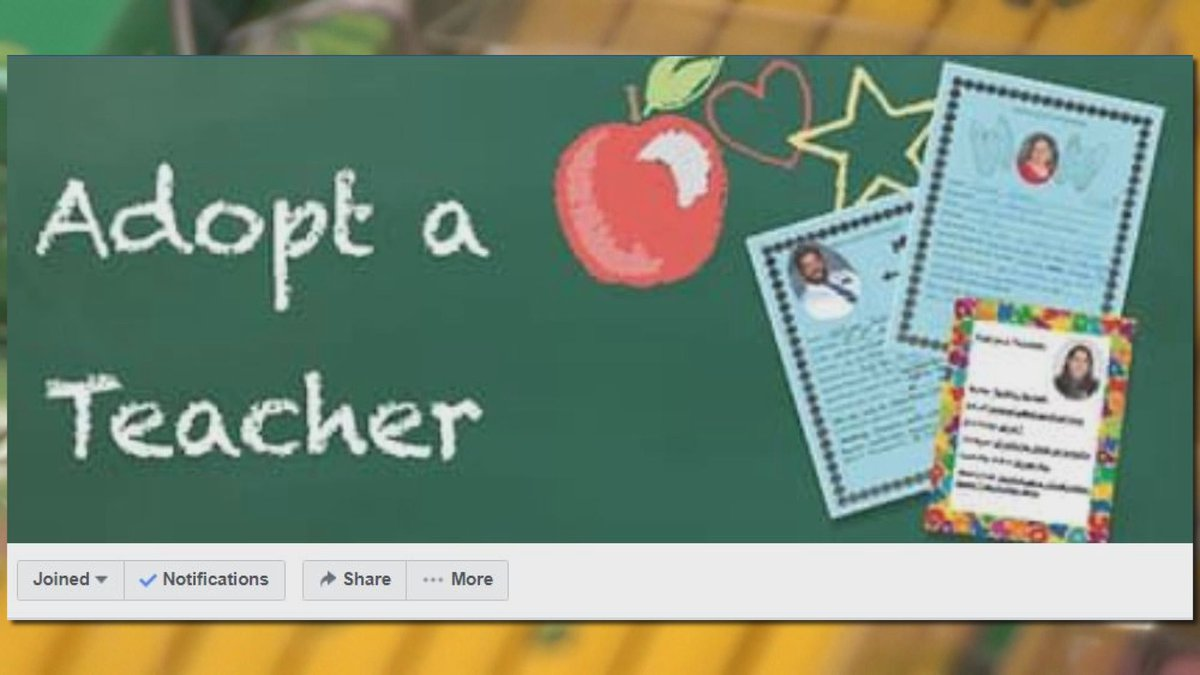 Adopt a Teacher connects teachers with community resources