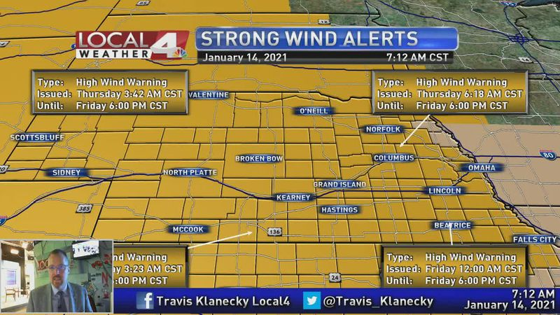 Dangerously strong winds will take us through the end of the work week.