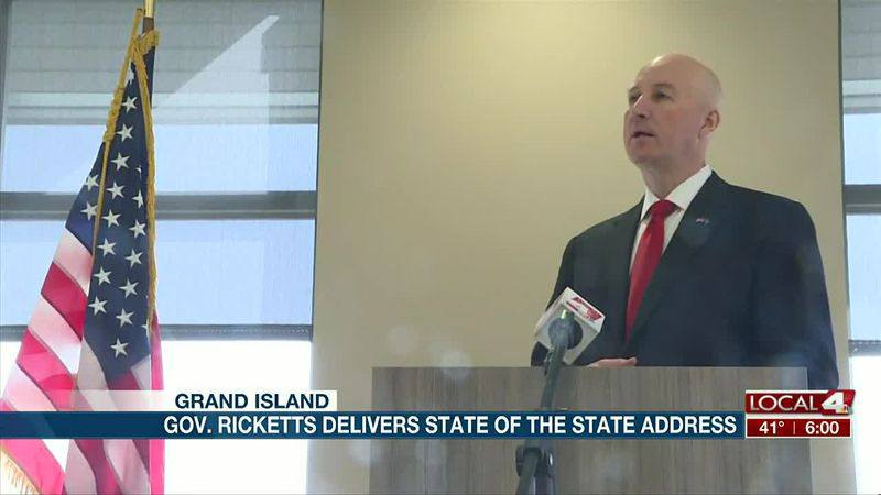 Ricketts delivers State Address; plans to cut property taxes