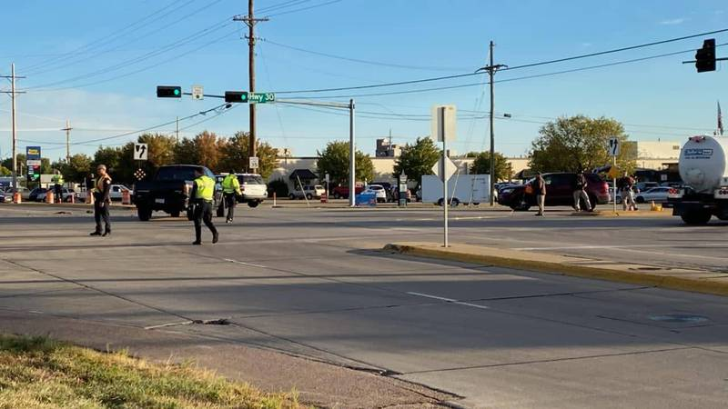 Police on scene of a fatality crash at Highway 30 and Webb Road in Grand Island.