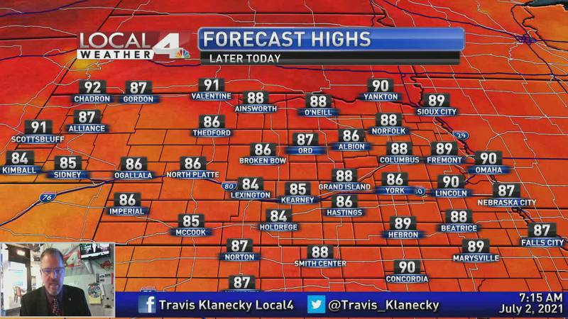 More heat building in for the Independence Day holiday weekend.