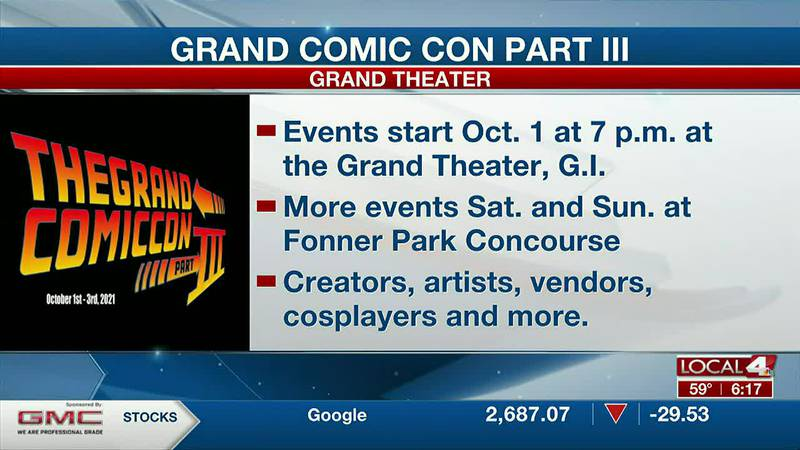 Grand Comic Con to feature artists, creators, vendors, cosplay and more.
