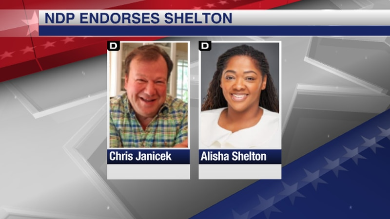 NDP endorses Alisha Shelton for U.S. Senate.