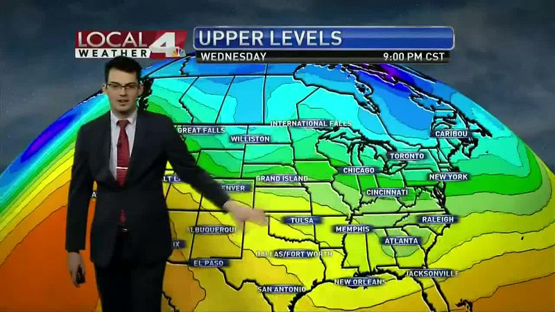 Upper level features just won't give us a typical winter pattern. This week we see mild to warm...