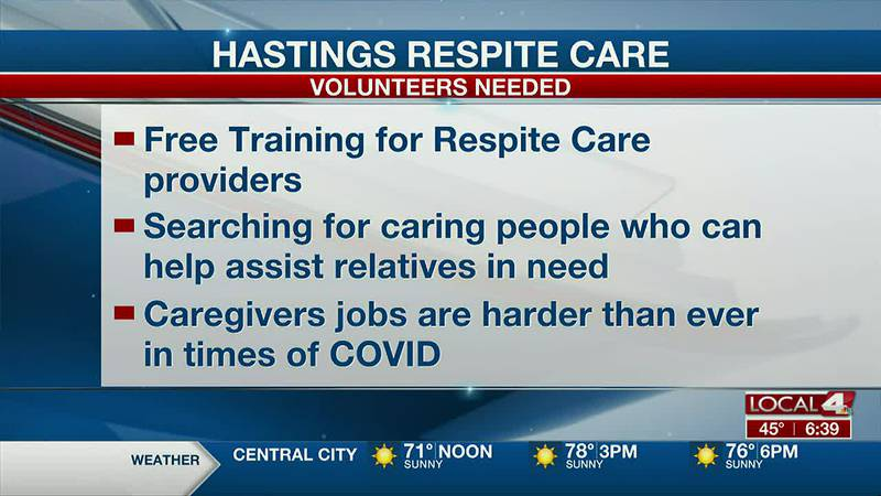 COVID-19 has exhausted family caregivers and Hastings Respite Care needs volunteers to help...