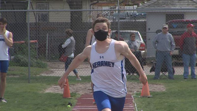 Kearney's Ehren Smolik places first in HAC Track and Field Championships in Boys Triple Jump