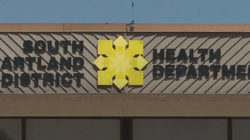South Heartland District Health Department risk dial remains between moderate and low zones for...