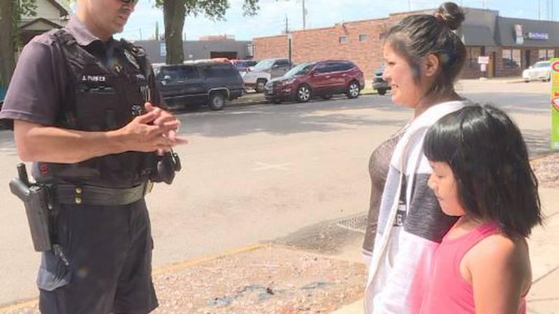 GIPD Patrol Officer Jesse Parker speaks spanish while on patrol in Grand Island.