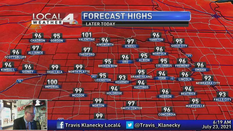 Plenty of heat and very little moisture in the days ahead.