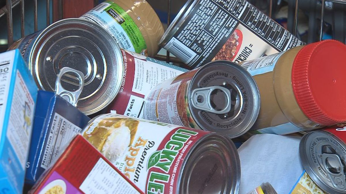 Canned foods and meats are one thing many food pantries accept as donations. (Credit: Alicia Naspretto, KSNB)