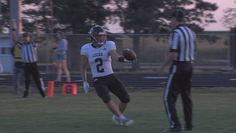 Cozad football scores against Adams Central.