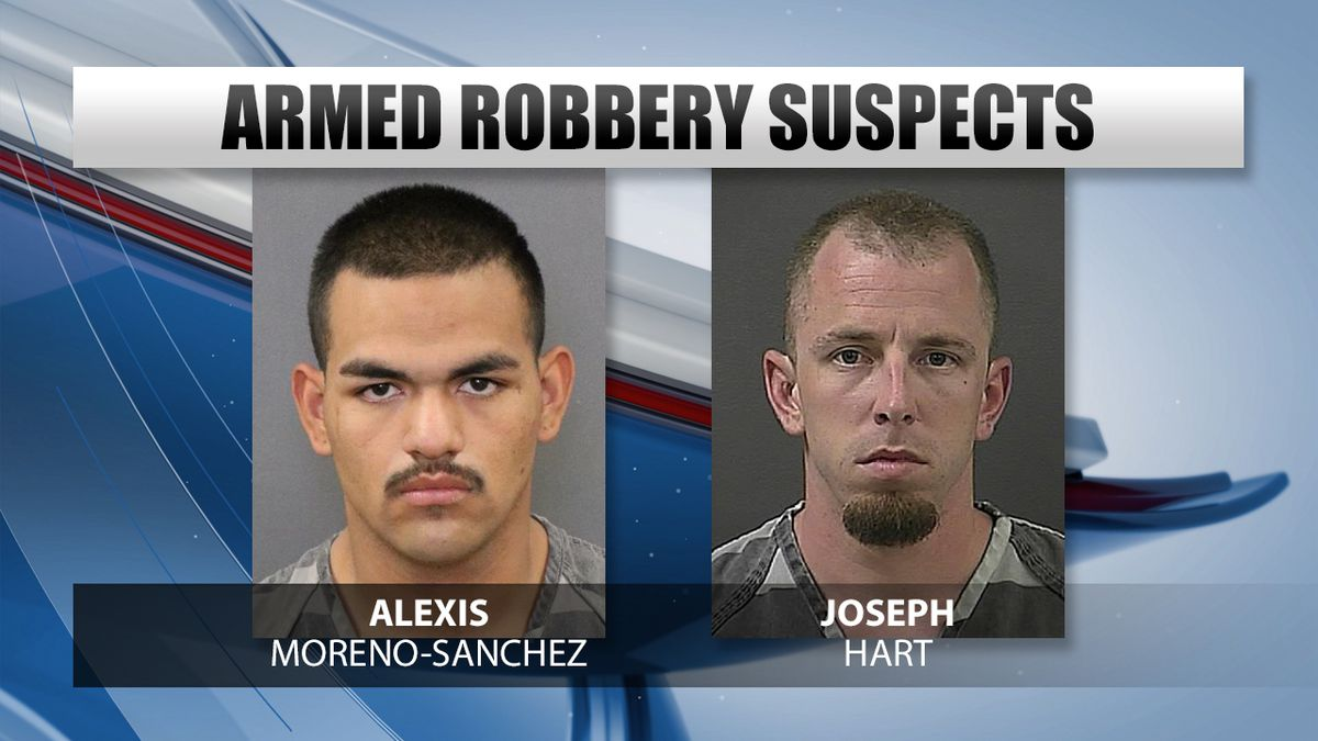 Alexis Moreno-Sanchez was arrested on multiple charges connected to an armed robbery in Grand...
