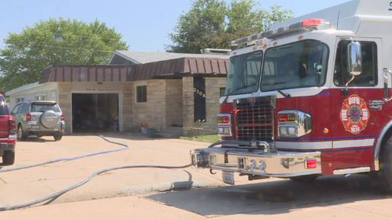 A man and wife can't stay in their home following a Friday afternoon fire