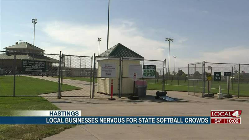Local businesses nervous for state softball tournament in Hastings