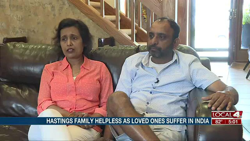 Hastings family helpless as loved ones suffer in India