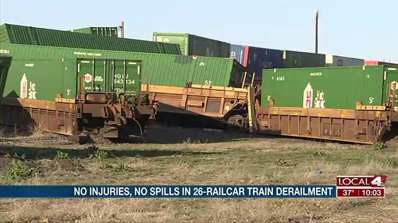 Train derailment in Gibbon