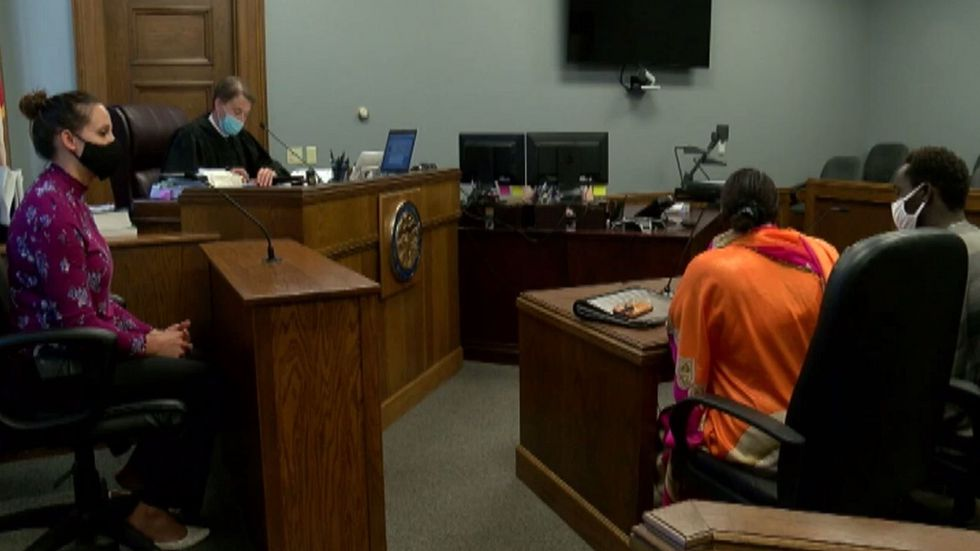 Tejani Abdalla during a hearing last year in Hall County Court.