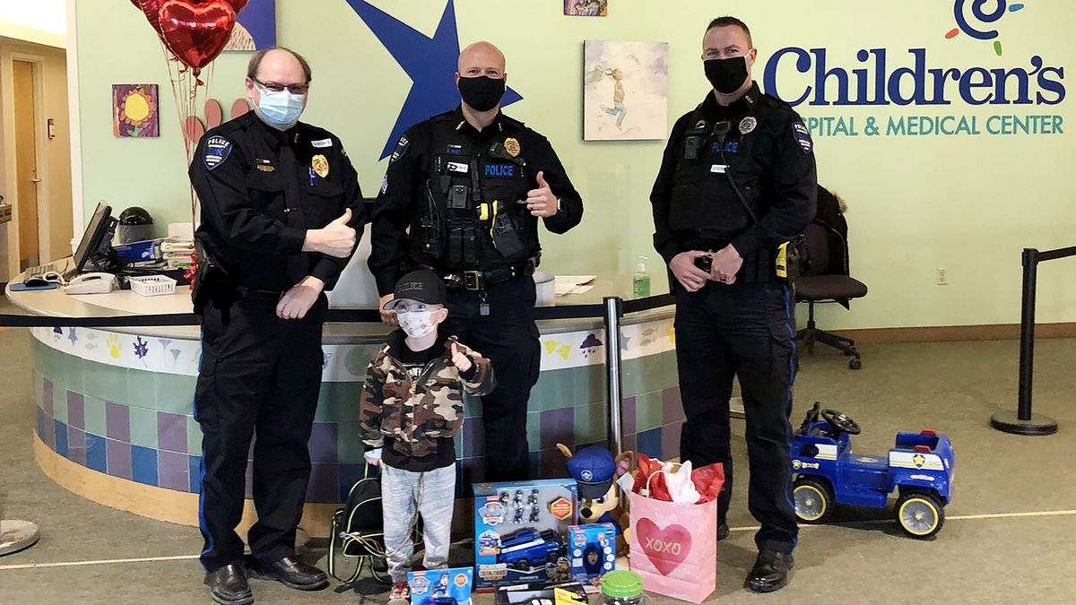 UNK Police give local boy 'Best Day Ever'