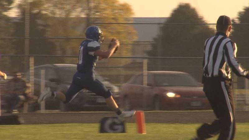 Tyson Denkert rushes for a touchdown