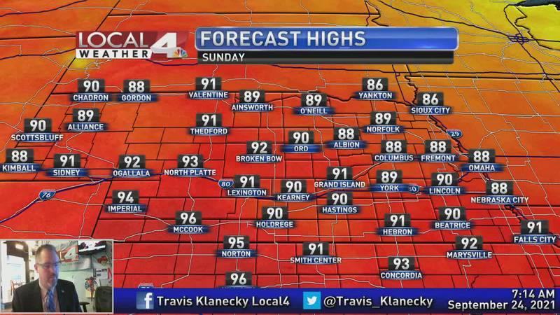 While we are cooling down today, there's plenty of heat on the way.
