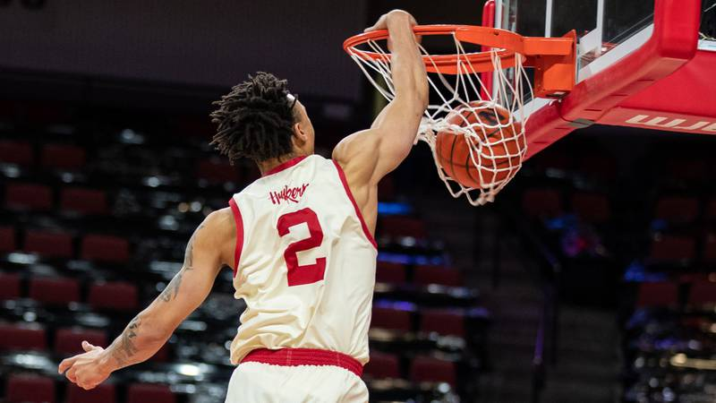 Trey McGowens and the Huskers open Big Ten play at Indiana on Dec. 4.