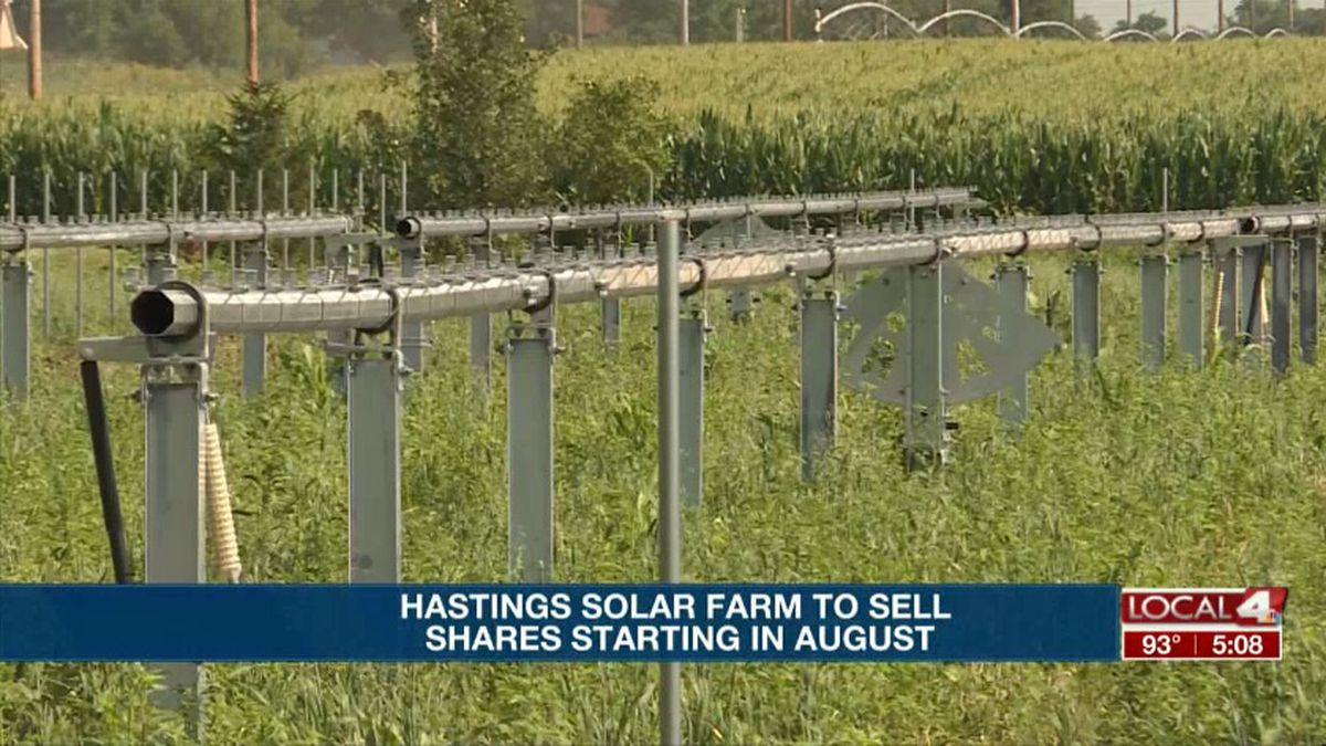 The Hastings solar farm is close to being ready for customers to buy in to. (KSNB)