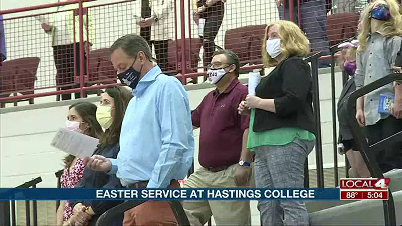 Church hosts Easter service at Hastings College