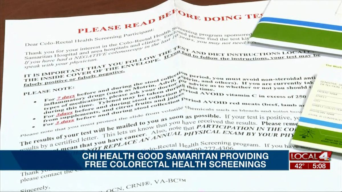Chi Health Good Samaritan Offers Free Colorectal Cancer Screening Kits
