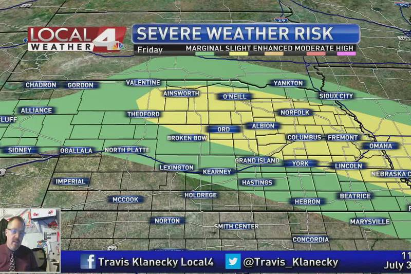 Severe weather threat increases later today and this evening.