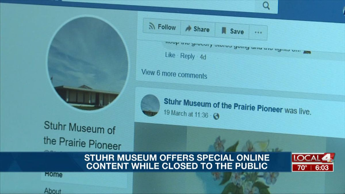 Even though the doors to the Stuhr Museum are closed, they are bringing the exhibits into people's homes through social media. (KSNB)
