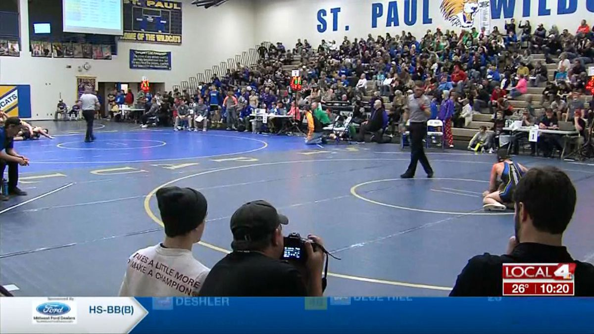 The C-2 Wrestling District is underway in St. Paul.