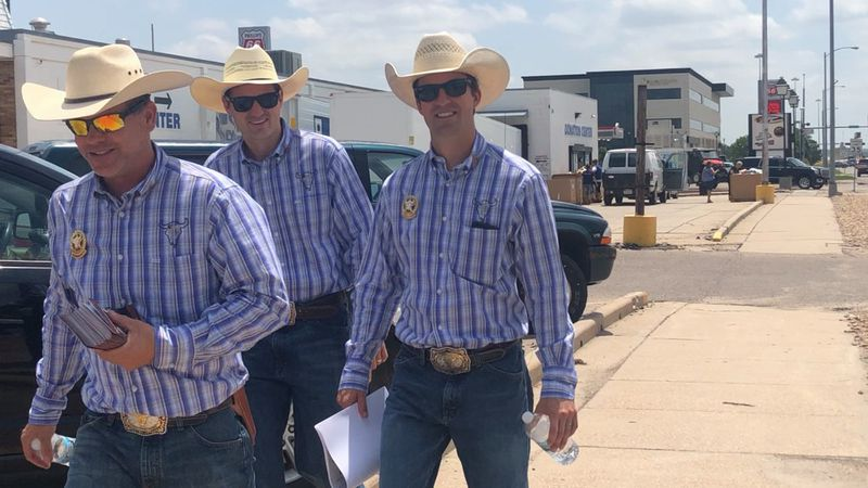 Members of the NEBRASKAland DAYS Board made their way around North Platte Friday to share news...
