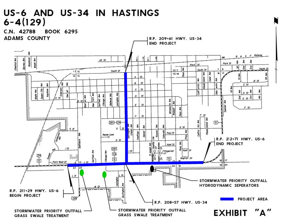 Hwy 6 and Hwy 34 improvement project in Hastings.