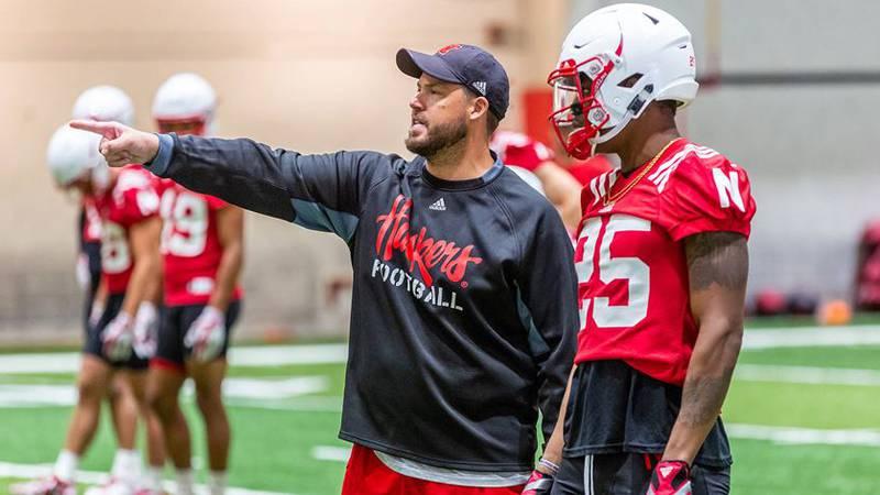 Nebraska's defensive coordinator Erik Chinander talks strategy against the Minnesota Golden...