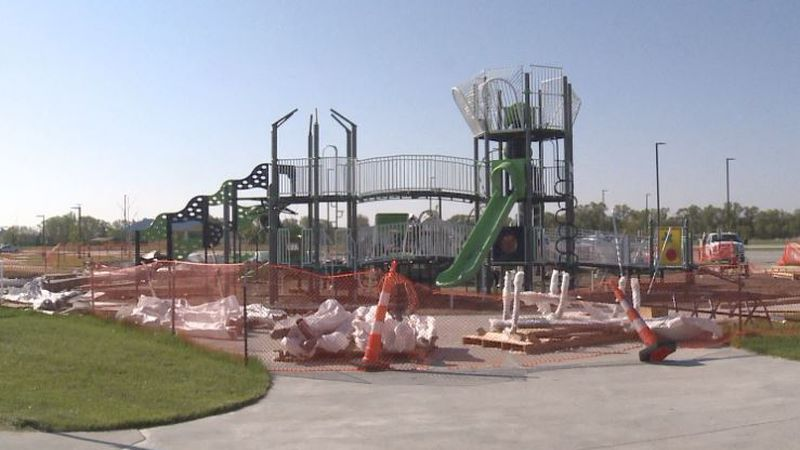 A new playground is being put in at the Veterans Athletic Complex in Grand Island.