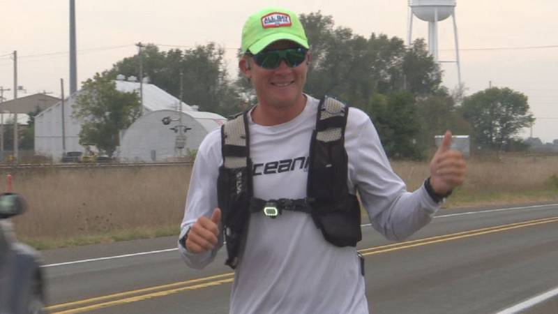 Jordan Moon runs across nation to raise money for the American Brain Association and to bring...